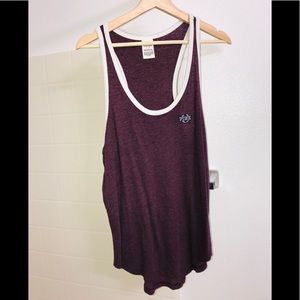 victoria's secret pink burgundy tank top